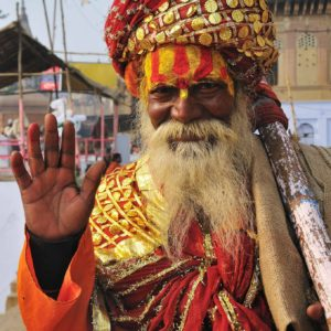 Sadhu by the Holy Ganges River.